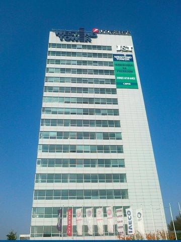Montáž reklamy Westend Tower - Bratislava - ProRoof