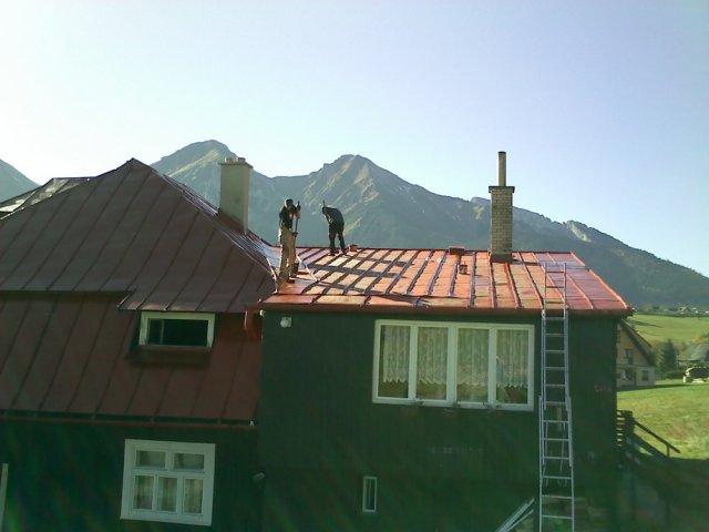 Náter strechy - Ždiar - ProRoof