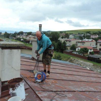 Náter strechy a oprava komína - Lubica - ProRoof