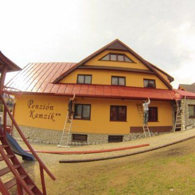 Náter strechy penzión Kamzík - Ždiar - ProRoof