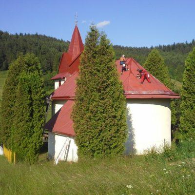 Náter kostola - Zálesie - ProRoof