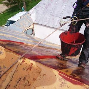 Maľovanie striech - Náter a nástrek - ProRoof