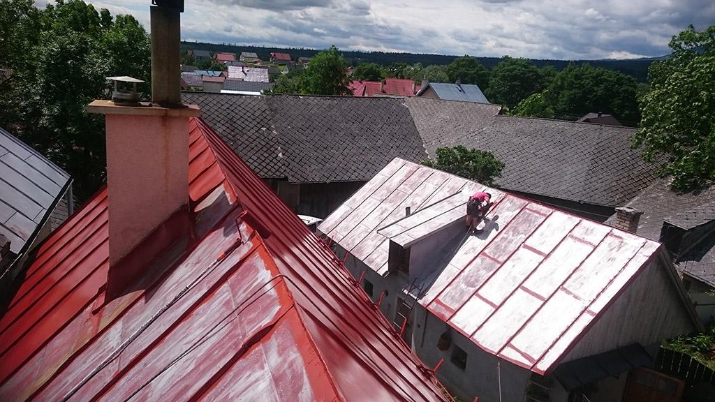 Čistenie a náter strechy - Lendak