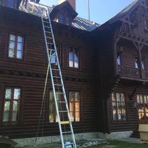 Oprava komínov-Prezidentský lovecký zámoček-Tatranská Javorina