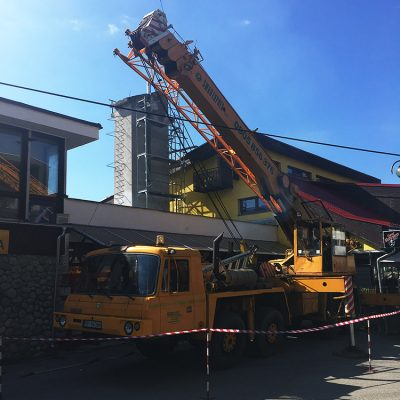 ProRoof-Renovácia komína a demontáž betónovej obruče, Štrbské Pleso